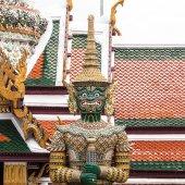 Green Giant Guardian in Wat Phra Kaew temple ,bangkok,thailand — Foto Stock