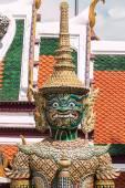 Green Giant Guardian in Wat Phra Kaew temple ,bangkok,thailand — Stock Photo
