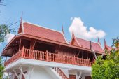 The parsonage  thailand style blue sky background — Stock Photo