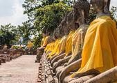Buddha Status at Wat Yai Chaimongkol, Ayutthaya, Thailand — Stock Photo
