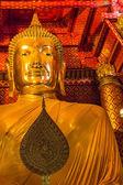 The buddha of wat phananchoeng worawihan, Thailand — Stock Photo