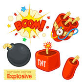 Cartoon Vector Explosive ( Bomb, Dynamite ) — Vetorial Stock