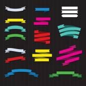 Satz von farbe bänder — Stockvektor