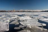 Floating of ice — Stock Photo