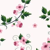 Vector retro floral pattern with flowers — Vector de stock
