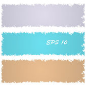 Set of grungy banners — Stock Vector