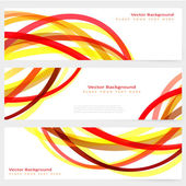 Set of abstract template banner — Stock Vector