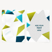 Abstract  template geometric flyer — Stock Vector