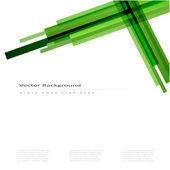Fondo de vector abstracto con líneas verdes — Vector de stock