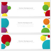 Set of abstract template banner with color circles — Stockvector
