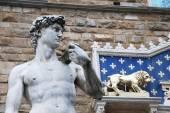 Replica of Michelangelo's David, Florence - Italy — Stock Photo