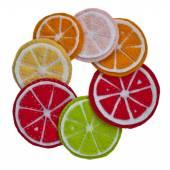 Colored felt circles — Stock Photo