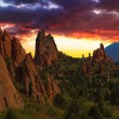 Sunset Image of the Garden of the Gods. — Stock Photo #55453783