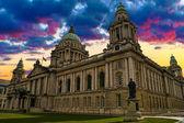 Sunset Image of City Hall, Belfast Northern Ireland — Stock Photo