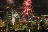 Portland Oregon, USA Fireworks. — Stock Photo