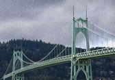 St. John's Bridge in Portland Oregon, USA. — Zdjęcie stockowe