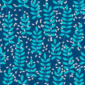 Seamless pattern with fern leaves — Stock Vector