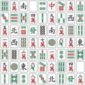 Seamless mahjong pattern — Stock Vector