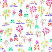 Seamless pattern with alien flowers — Stockvektor