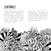 Zentangle 卡模板 — 图库矢量图片