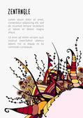 Zentangle poster template — 图库矢量图片