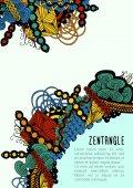 Zentangle poster template — Stock Vector