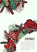Zentangle poster template — Vecteur