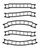 Film strips banner ribbon — Stock Vector