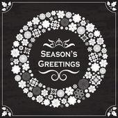 Vintage style season's greetings on chalkboard — Stock Vector