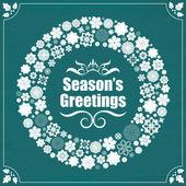 Vintage style season's greetings on chalkboard — Vettoriale Stock