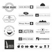 Vintage brands and logo elements — Wektor stockowy