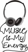 Music is my energy — Stock Vector