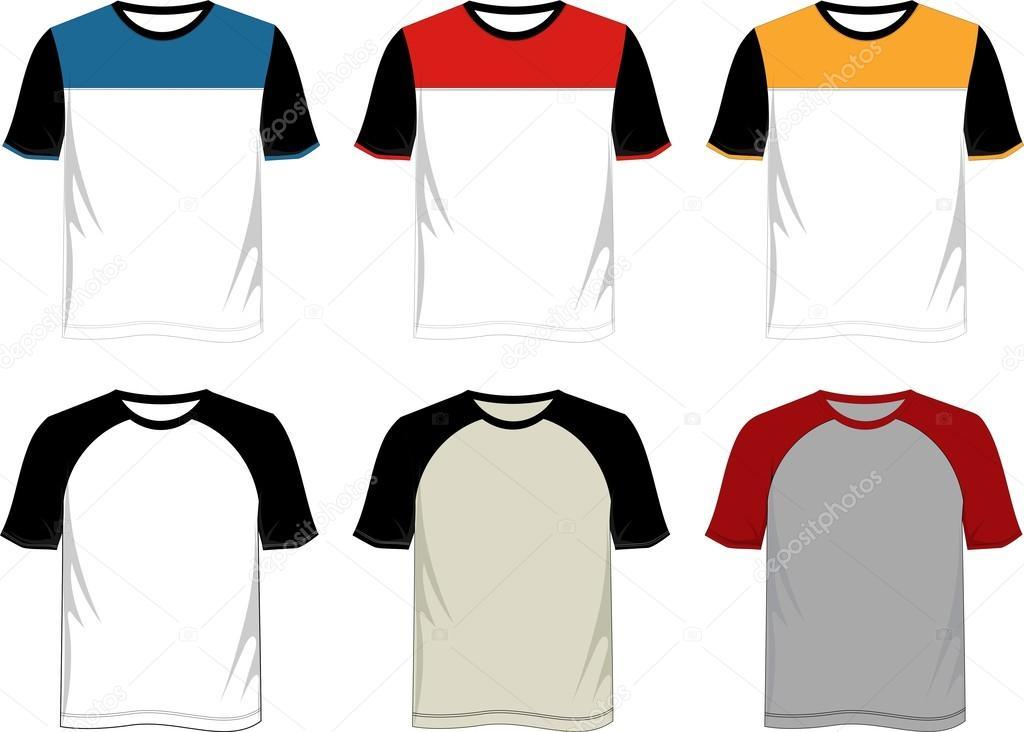 Modelo De Camiseta Raglan Vetores De Stock 169 D2ptri