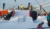 Gorky Park snowboarding — Stock Photo