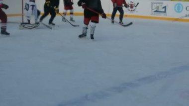 Benim üzerime buz hokeyi takımları. — Stok video