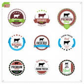 Vector Beef Labels — Stock Vector