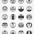 Monochrome Meat Labels Collection — Stock Vector #59750665