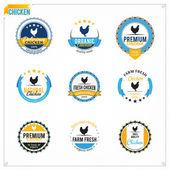 Vector Chicken Labels — Stock Vector