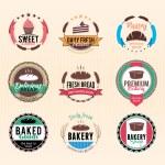 Постер, плакат: Bakery logos badges and labels colletion