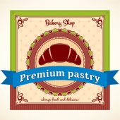 Bakery Shop Vector Label — Stok Vektör