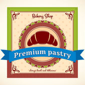 Bakery Shop Vector Label — Stock Vector