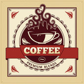 Vintage Coffee Label — Stock Vector