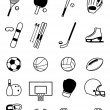 Sport Equipment Icons Isolated on White — Stock Vector #68773041