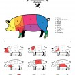 British Pork Cuts Diagram — Stock Vector #68778059