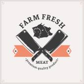 Butchery Logo, Meat Label Template — Stock Vector