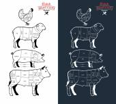 British Meat Cuts Diagrams