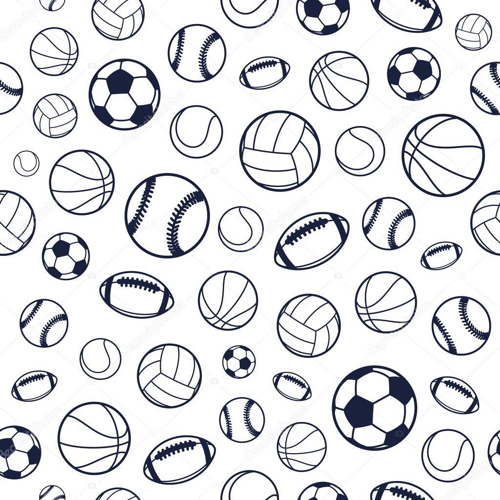sports balls pattern background vector equipment seamless ball sport texture illustration backgrounds soccer edit depositphotos patterns shutterstock counterfeit