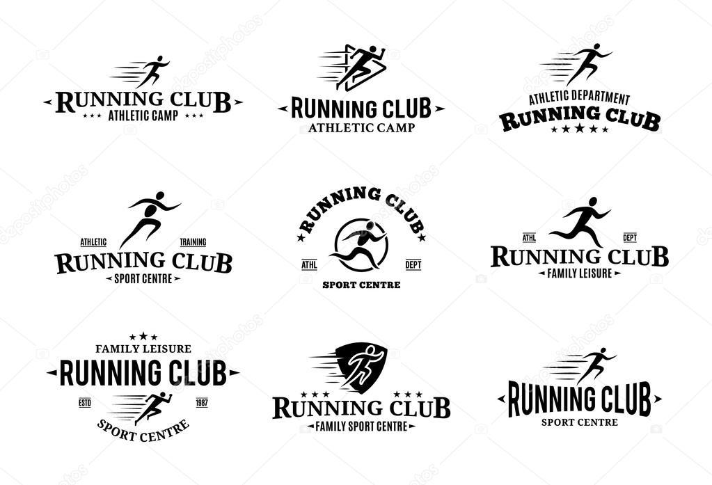 Shoe Logo Man Running