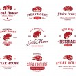 Grill Steak Logos, Labels, and Design Elements. Steaks for BBQ and Grill Steakhouse Labels — Stock Vector #74781607