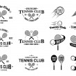 Tennis Club Labels Templates and Design Elements — Stock Vector #78922588